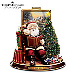 Thomas Kinkade Storytelling Santa Tabletop Figurine: 'Twas The Night Before Christmas