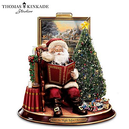 Thomas Kinkade Storytelling Santa Tabletop Figurine: Twas The Night Before Christmas