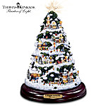 Thomas Kinkade A Holiday Gathering Illuminated Christmas Tree: Holiday Home Decoration
