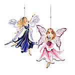 Black Iris & Stargazer Lily Fairy Ornaments: Collectible Christmas Ornaments