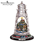 Thomas Kinkade Seaside Serenity Crystal Lighthouse Figurine