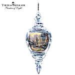 Thomas Kinkade The Night Before Christmas 2011 Annual Crystal Ornament