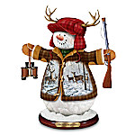 Deer Hunters Christmas Tabletop Snowman Figurine