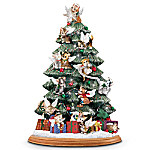 Cat Lover's Illuminated Tabletop Christmas Tree