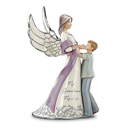 My Grandson, My Joy Porcelain Guardian Angel Figurine Gift