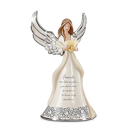 Friends Are Like Angels Musical Figurine Gift
