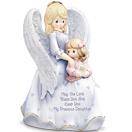 Gifts for Daughters Precious Moments My Blessed Daughter Porcelain Figurine: Mother-Daughter Musical Gift