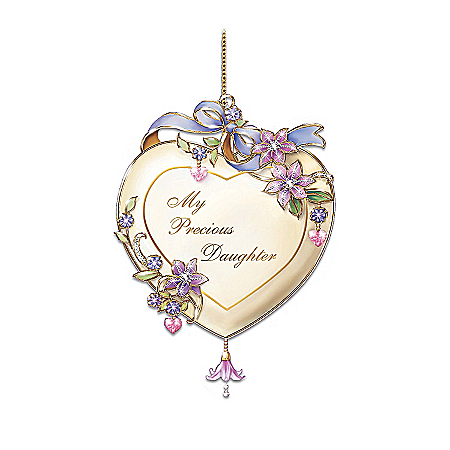 Christmas Ornament My Precious Daughter Heart-Shaped Christmas Tree Ornament Keepsake Gift