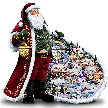 Christmas Decoration Thomas Kinkade Santa's Holiday Village Figurine: Unique Christmas Decoration