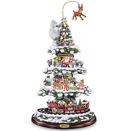 Rudolph's Christmas Town Express Tabletop Tree
