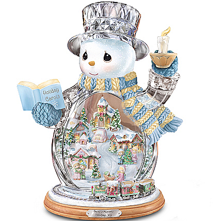 Precious Moments Holiday Joy Crystal Snowman Figurine: Unique Christmas Decoration