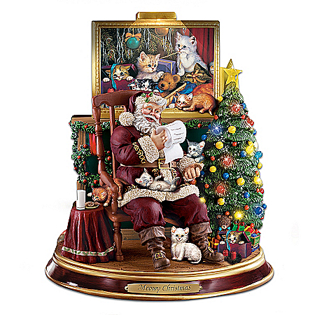 Meowy Christmas Figurine: Cat Lovers Christmas Decor
