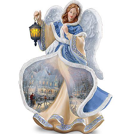 Thomas Kinkade Winter Angel Of Light Figurine