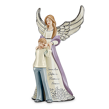 Forever My Son Heirloom Porcelain Musical Figurine
