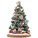 Cat Lover's Illuminated Tabletop Christmas Tree - Purr-fect Holiday