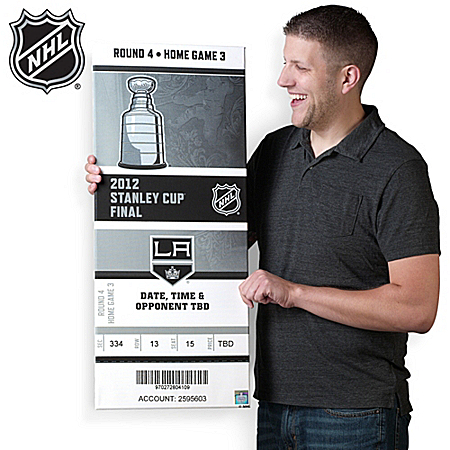 2012 Los Angles Kings® NHL® Stanley Cup Champions™ Oversized Ticket Wall Hanging Decor
