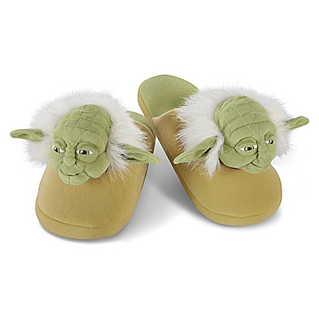 STAR WARS: Yoda Plush Slippers For Adults