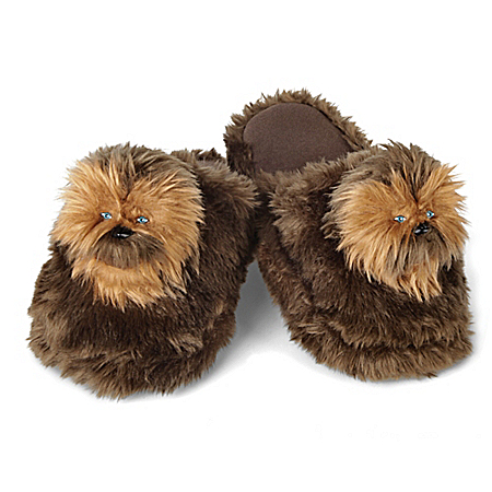 STAR WARS: Chewbacca Plush Slippers For Adults