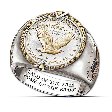 U.S. Eagle Quarter Men's Ring