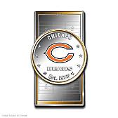 Official Chicago Bears Silver Dollar Money Clip