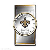 Official New Orleans Saints Silver Dollar Money Clip