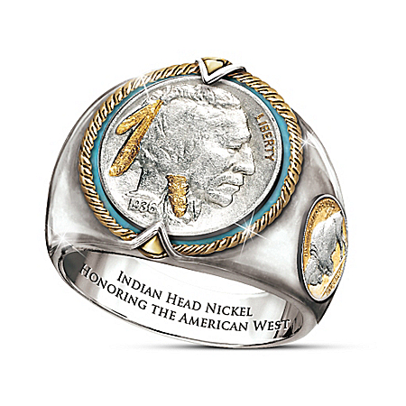Indian Head Nickel Men's Ring