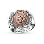 The Eternal Spirit Of America Indian Head Penny Ring