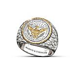 Barber Silver Coin Men's Ring