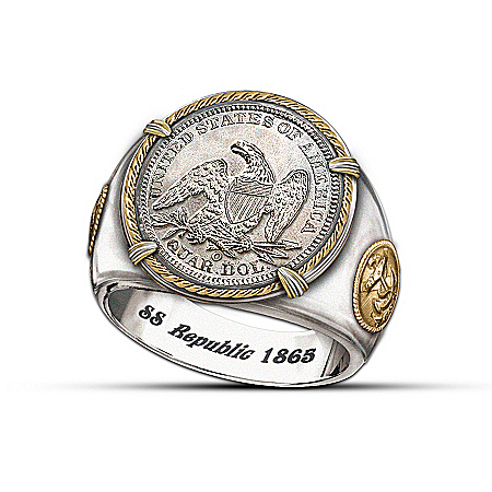 SS Republic Shipwreck Men's Ring