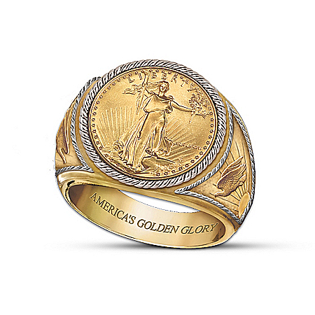 Saint-Gaudens Golden Proof Men's Ring