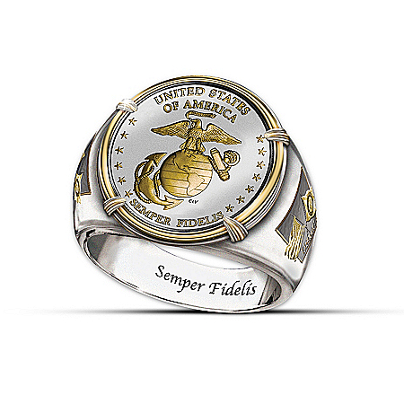 Men's Ring: The USMC Commemorative Proof Ring
