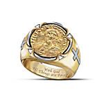 Men's Ring - Face Of Faith - Christ Coin Ring