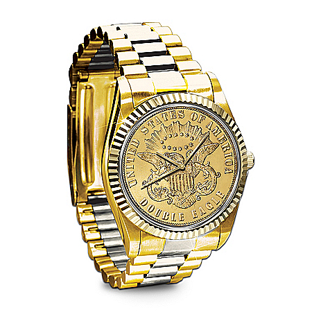 Men's Watch: The 1849 $20 Eagle Proof Men's Watch