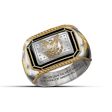 Men's Ring: The Morgan Silver Ingot Ring