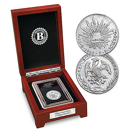 The First Silver Dollar Of The American West Coin With Display Box