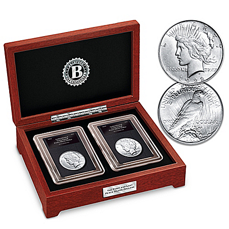 The First And Last 1922-1935 Lady Liberty Peace Silver Dollar Coin Set
