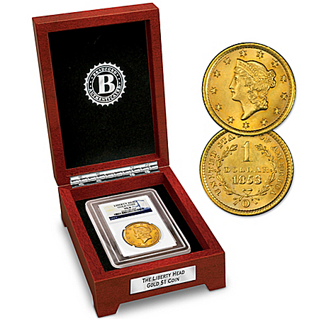 America's 1st $1 Gold Liberty Head Eagle Minted Collector Coin
