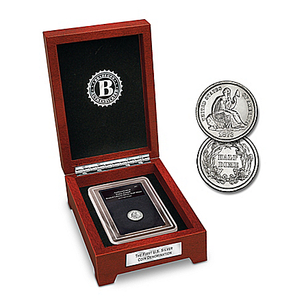 Coin: The First U.S. Silver Denomination Coin from The Bradford Exchange Online Product Image