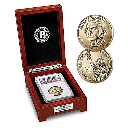 The Washington Error Presidential Dollar Coin With Display Box