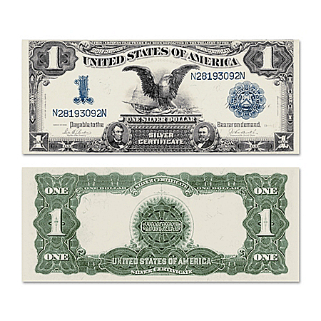 The Silver Certificate Giant Horse Blanket $1 Black Eagle Note Currency