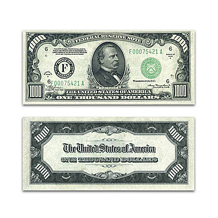 The Last $1,000 Federal Reserve Note Series 1934 Currency With Currency Sleeve