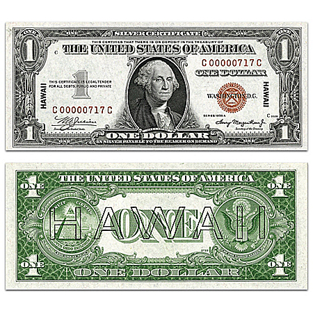 The Special Hawaii Pearl Harbor $1 Emergency Note With Currency Sleeve