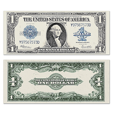 The Largest U.S. Note – 1923 $1 Silver Certificate Currency With Protective Sleeve
