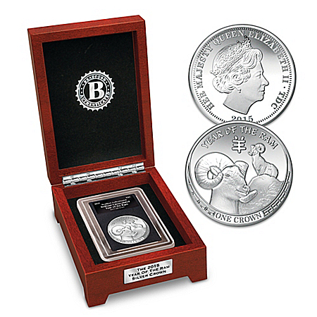 The All-New 2015 Silver Coin Commemorates The Chinese Year Of The Ram And Queen Elizabeth