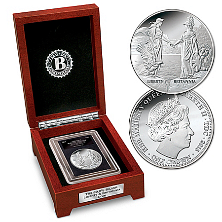 The First-Ever 2015 Liberty And Britannia 99.9% Silver Crown Coin