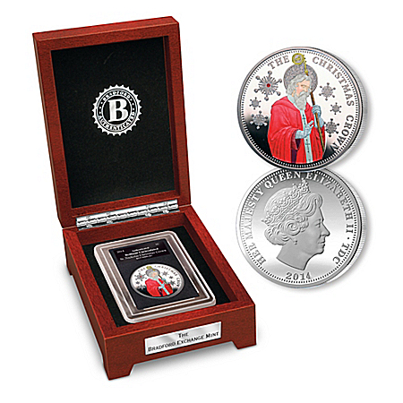 The Christmas Crown Coin Depicting Saint Nick Includes Display Box