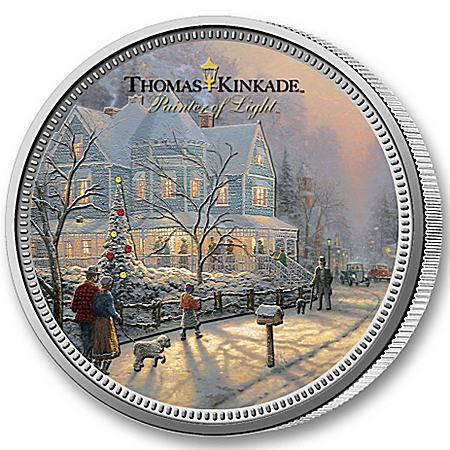 The All-New Thomas Kinkade Legal Tender Christmas Coin With Display Box