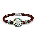 The Indian Head Nickel Men's Leather Bracelet