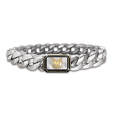 The Morgan Silver Ingot Men's Eagle Bracelet