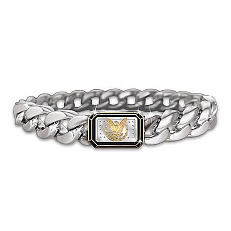 The Morgan Silver Ingot Men's Eagle Bracelet